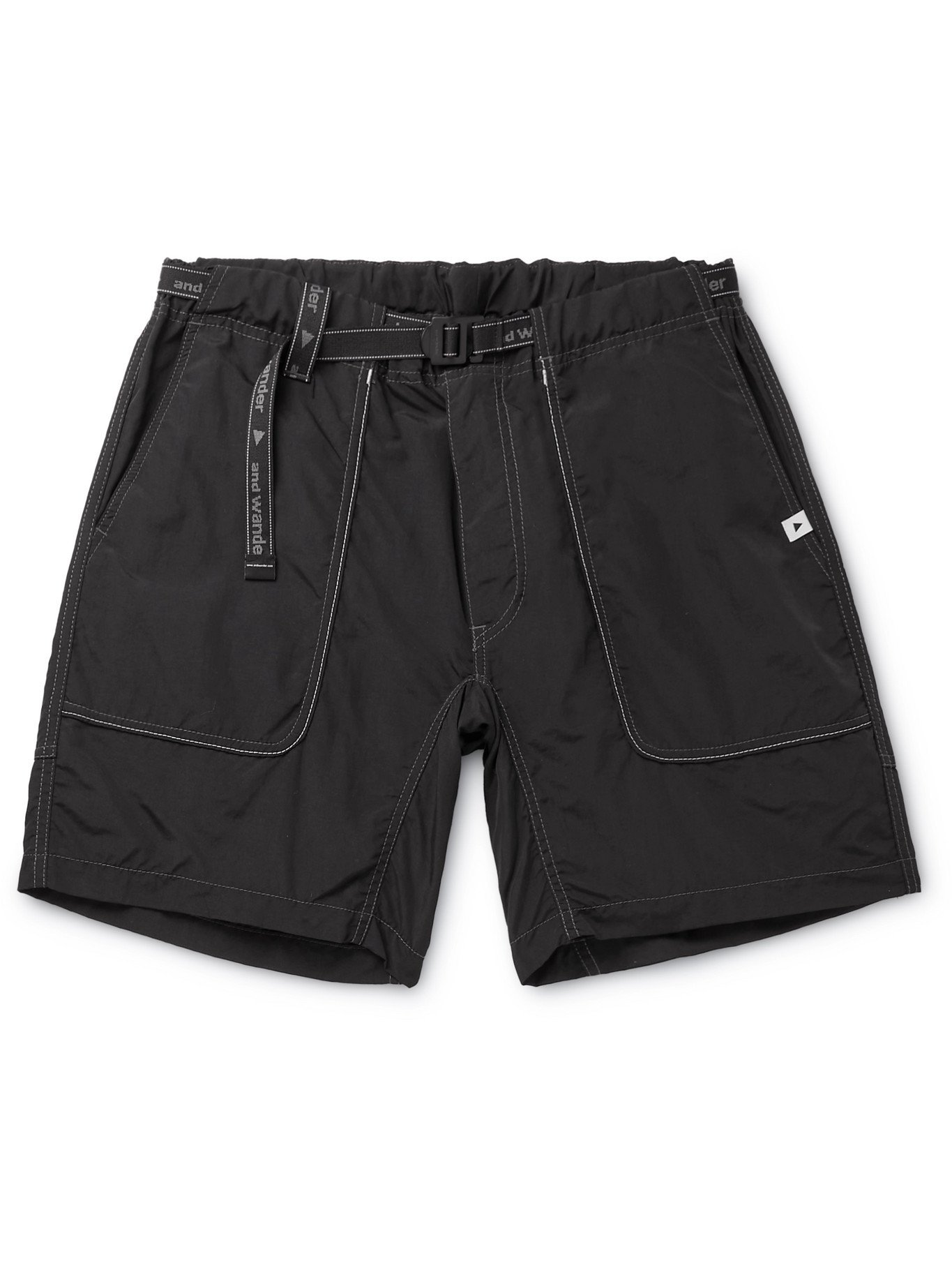 Photo: AND WANDER - Belted Nylon Shorts - Black