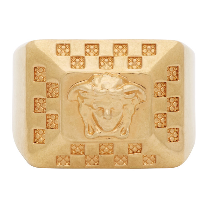 Photo: Versace Gold Medusa Square Ring