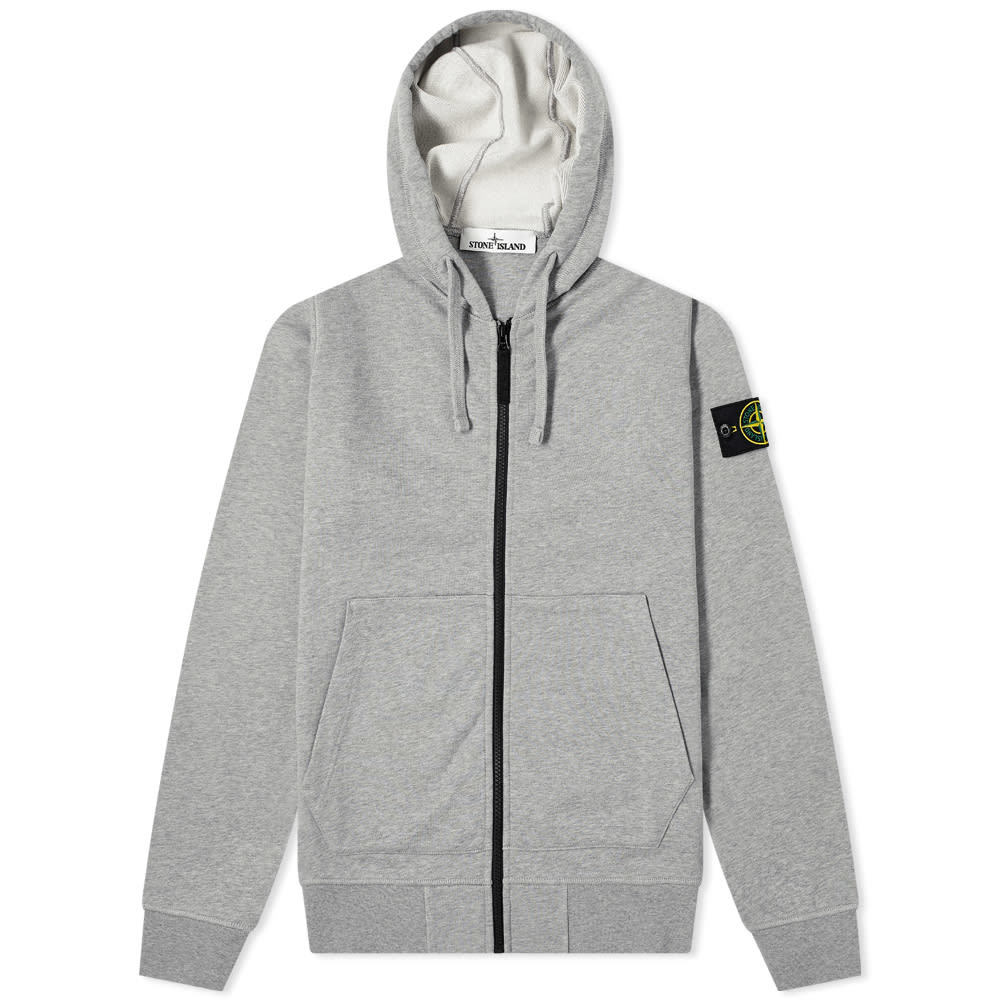 Stone Island Garment Dyed Zip Through Hoody