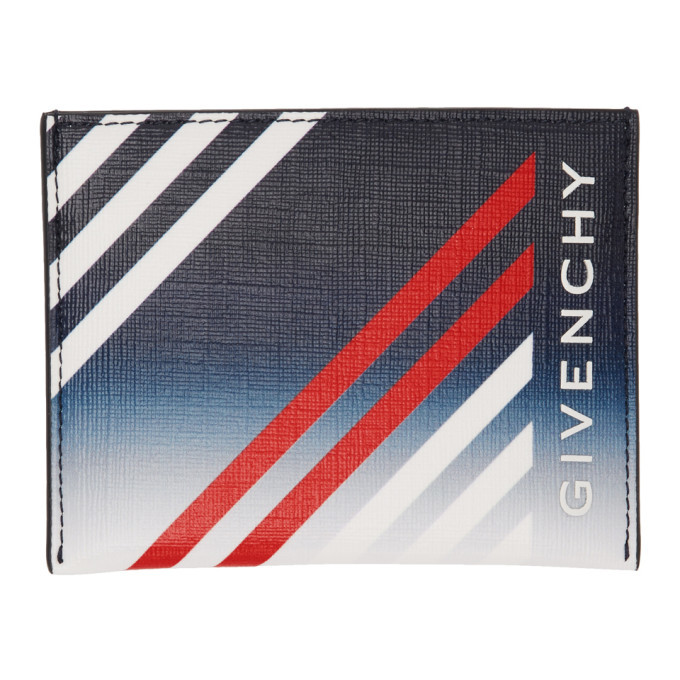 Photo: Givenchy Navy Stripes Card Holder