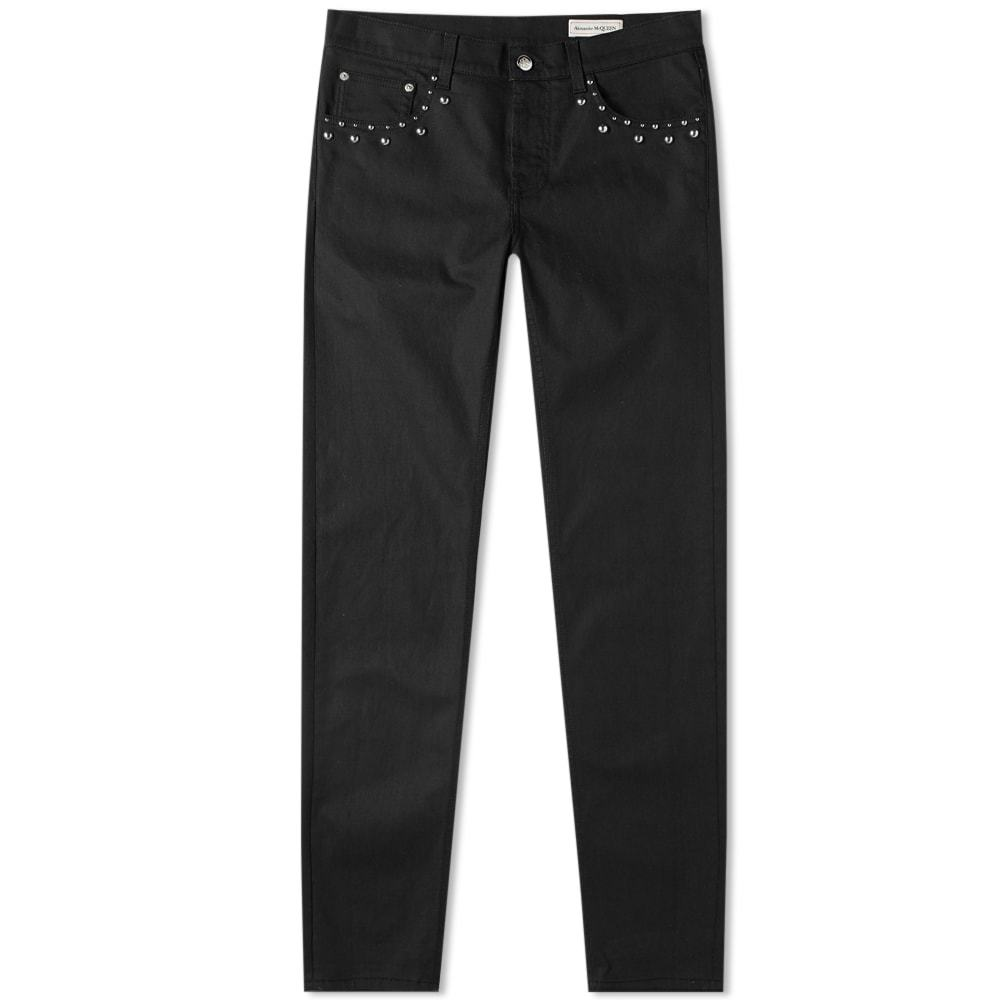 Photo: Alexander McQueen Studded Denim Pocket Jean