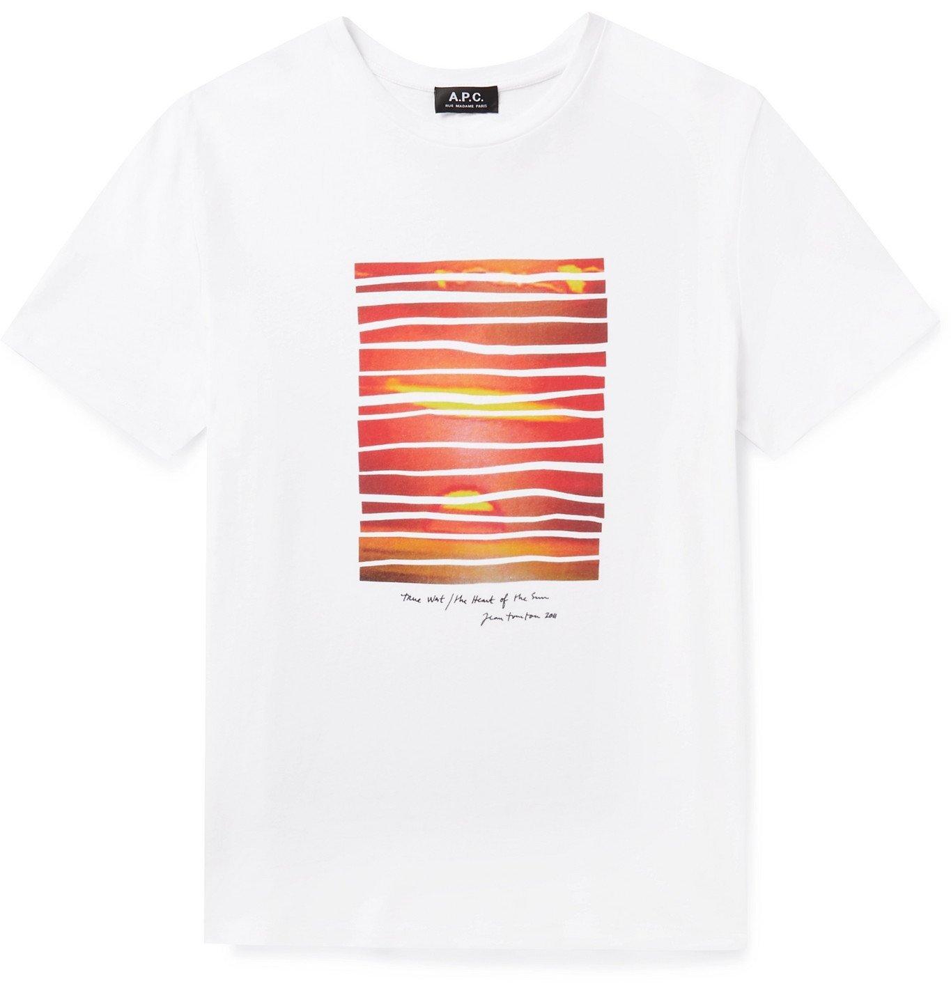 Photo: A.P.C. - Nika Printed Cotton-Jersey T-Shirt - Multi