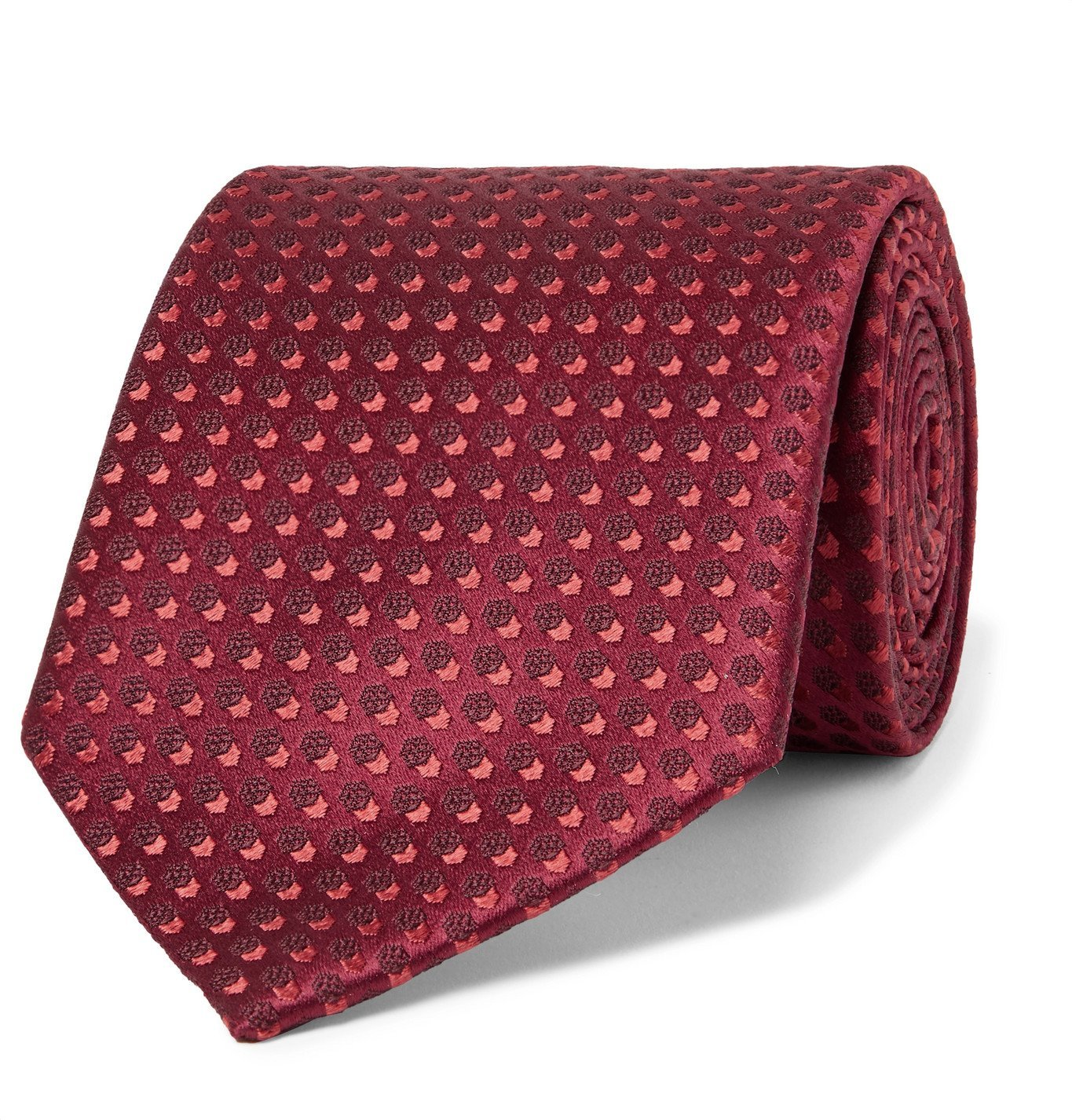 Photo: Charvet - 8.5cm Silk-Jacquard Tie - Red