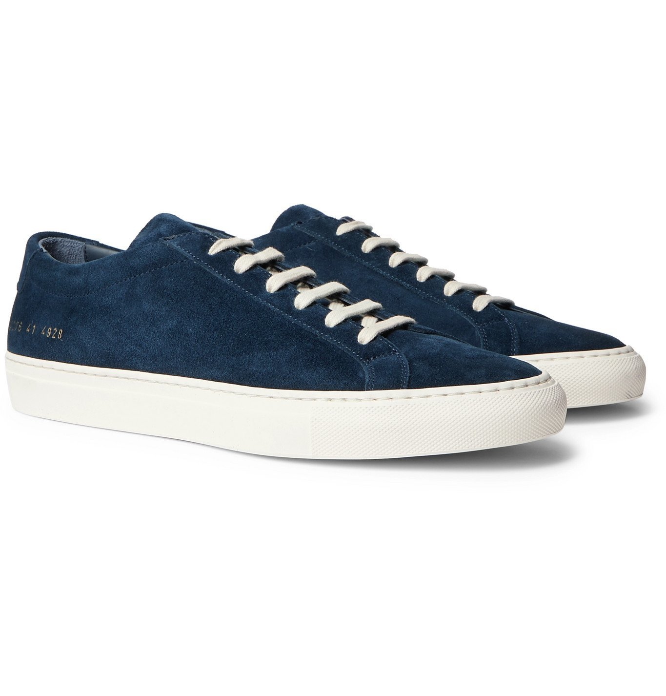 Common Projects - Achilles Suede Sneakers - Blue