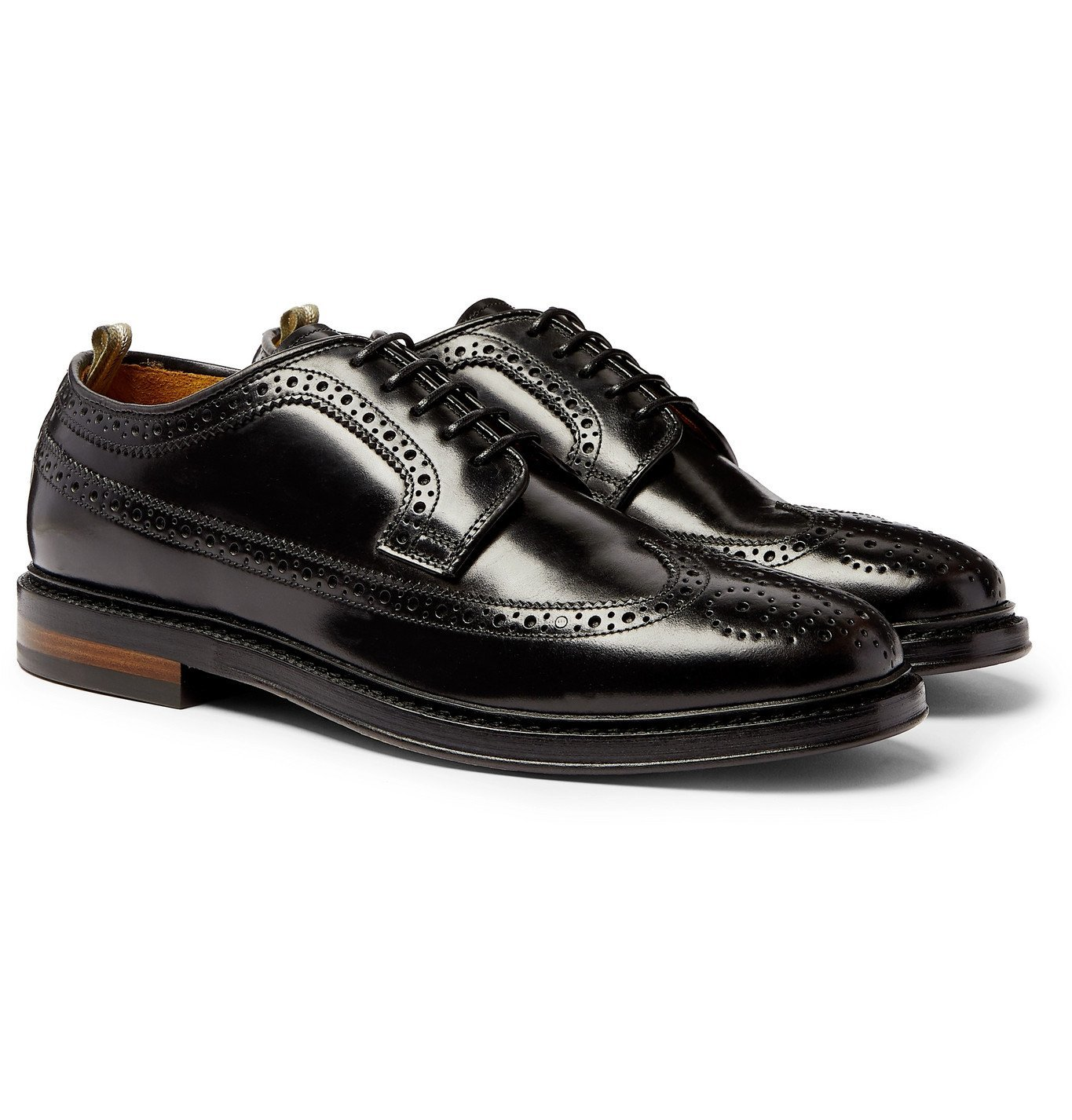 Photo: Officine Creative - Hopkins Leather Longwing Brogues - Black