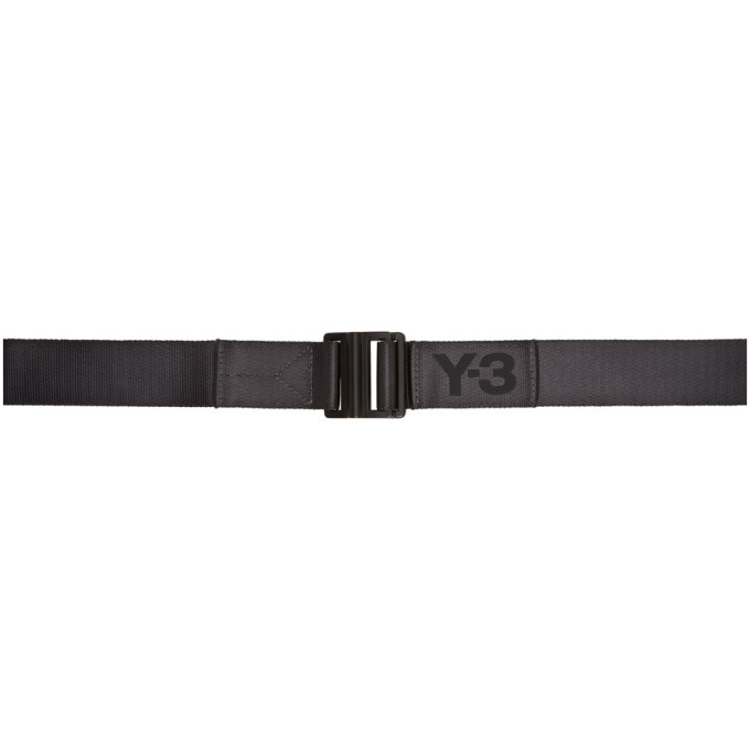 Photo: Y-3 Grey Classic Logo Belt
