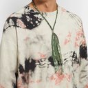 KAPITAL - Fringed Bandana-Print Cotton-Gauze Necklace - Green