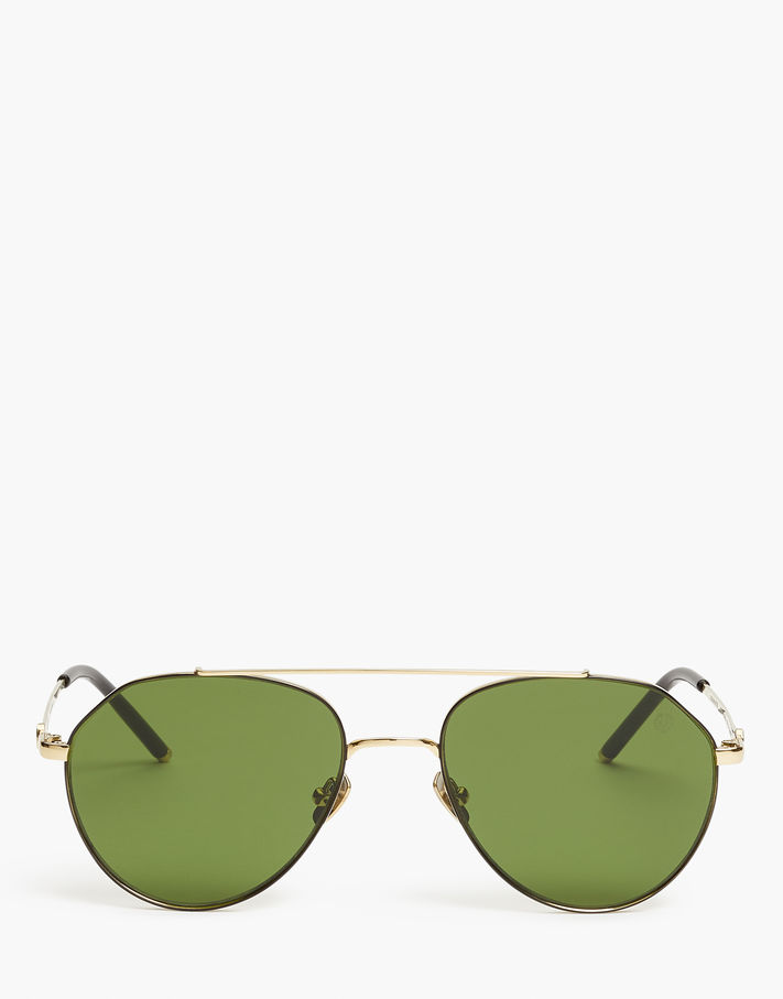 Belstaff Roadmaster Squared Aviator Sunglasses Grey