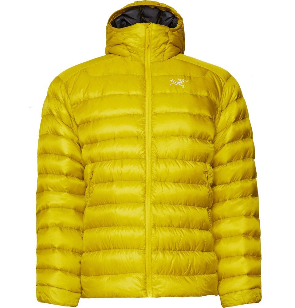 Photo: Arc'teryx - Cerium LT Quilted Ripstop Hooded Down Jacket - Men - Bright yellow