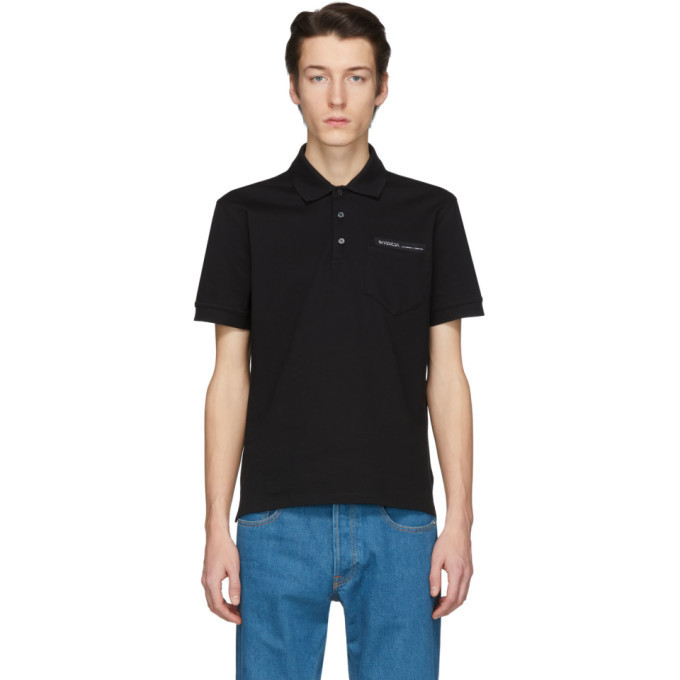 Photo: Givenchy Black Tape Logo Polo