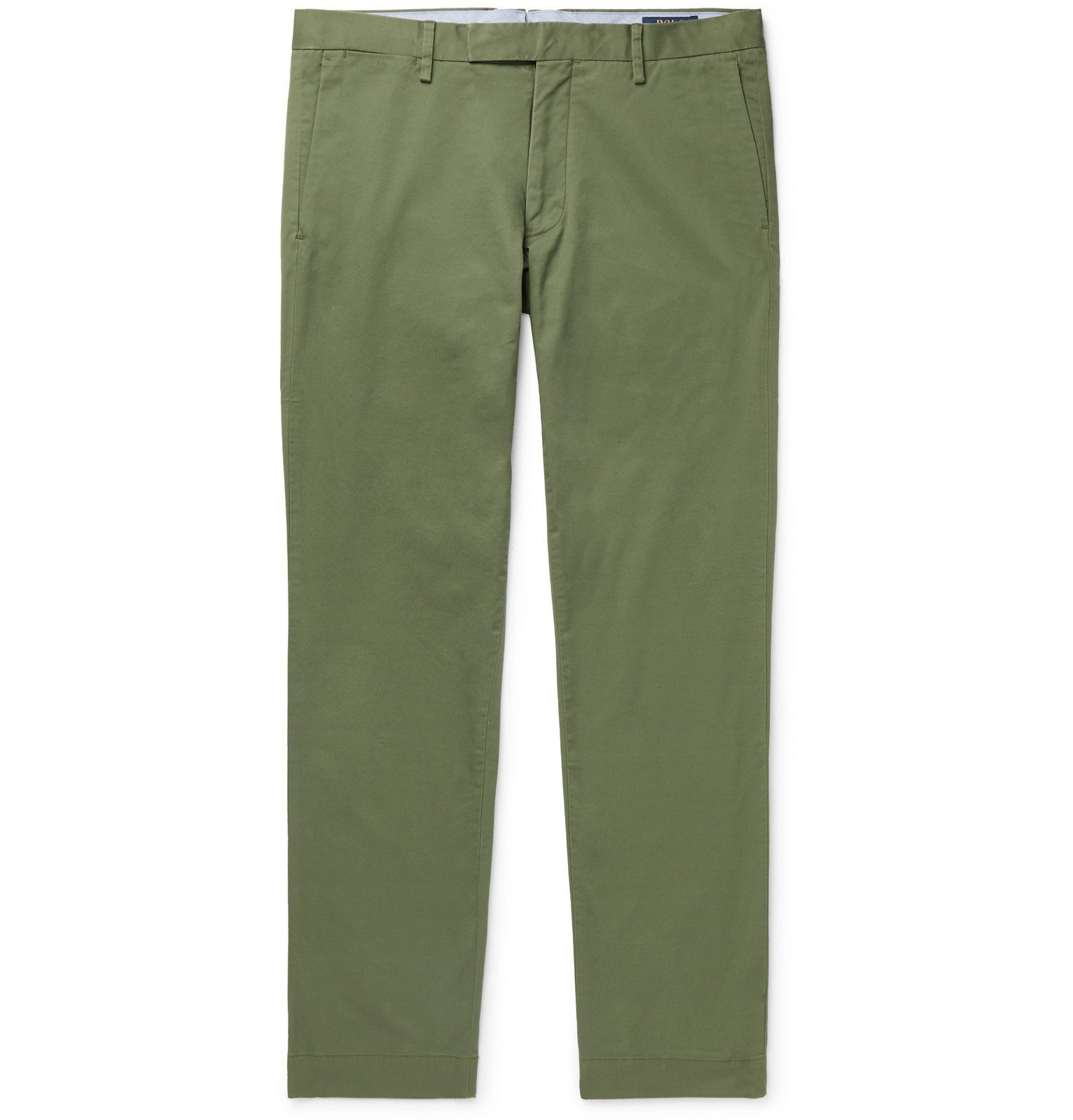 Photo: Polo Ralph Lauren - Hudson Slim-Fit Stretch-Cotton Twill Chinos - Green