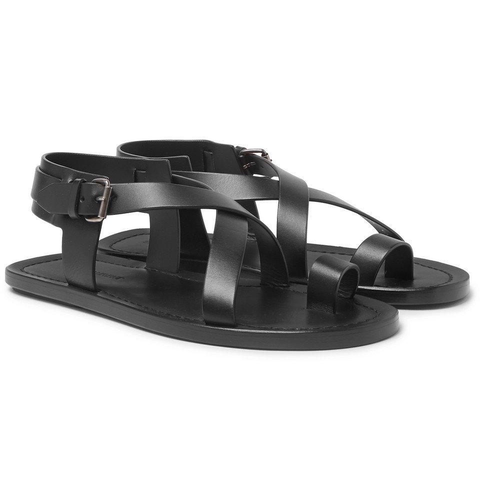 Photo: SAINT LAURENT - Nu Pieds Leather Sandals - Black