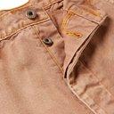 KAPITAL - Appliquéd Distressed Cotton-Canvas Trousers - Brown