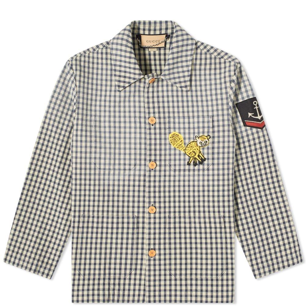 Photo: Gucci Logo Checked Work Jacket