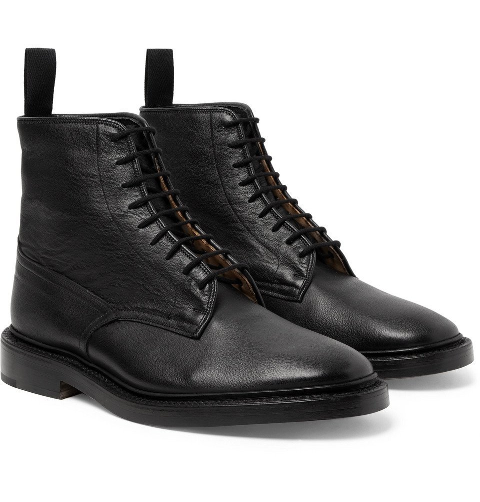 Photo: Tricker's - Anniversary Edition Cruiser Tramping Leather Boots - Black
