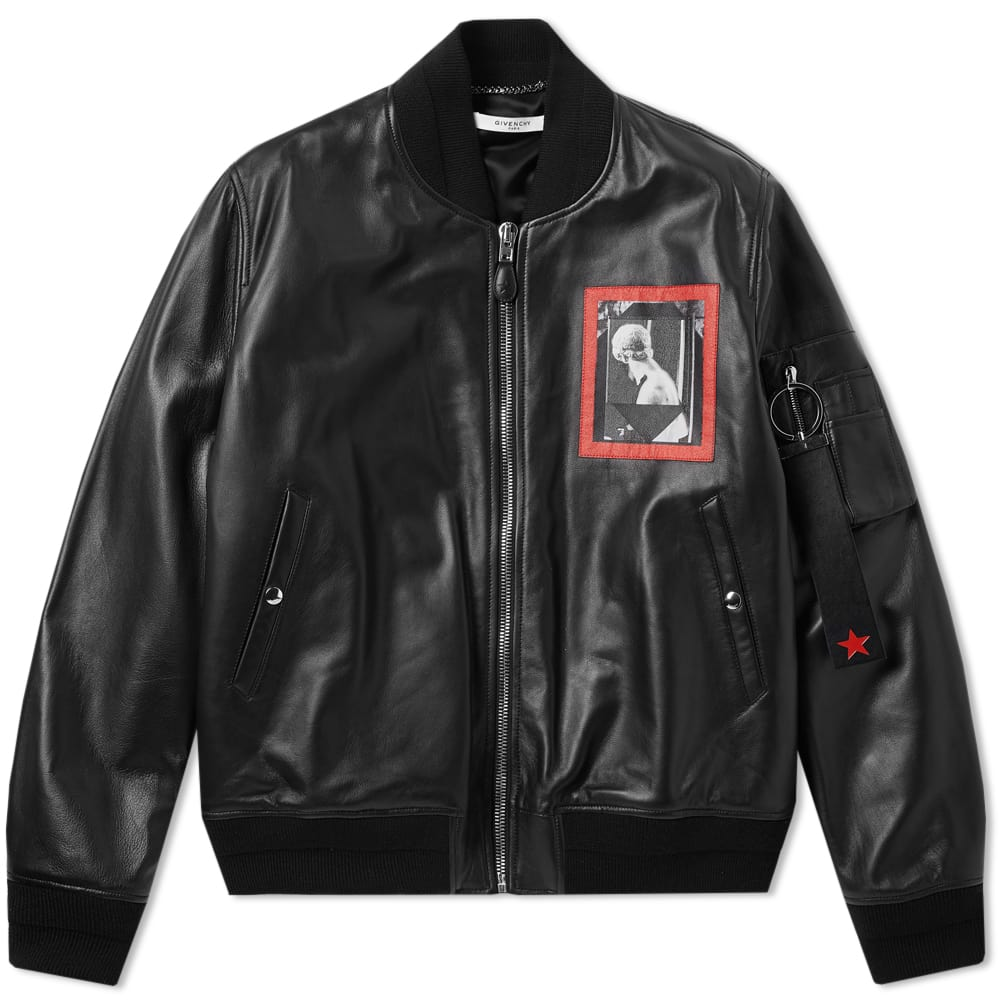 Photo: Givenchy Romantic Patch Leather MA1 Jacket