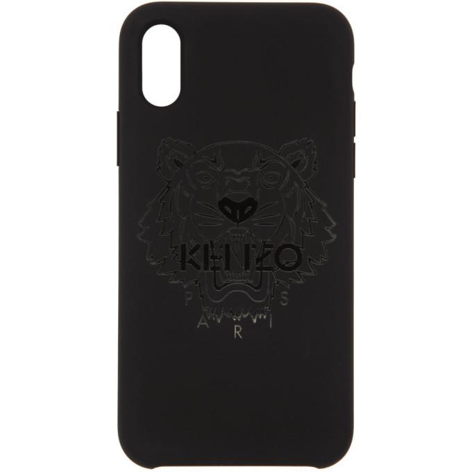 Photo: Kenzo Black Tonal Tiger iPhone X Case