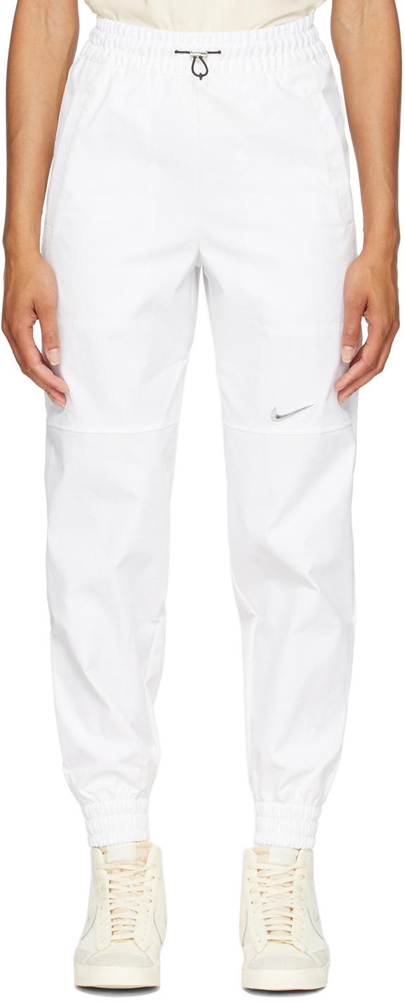 Photo: Nike White Twill Sportswear Lounge Pants