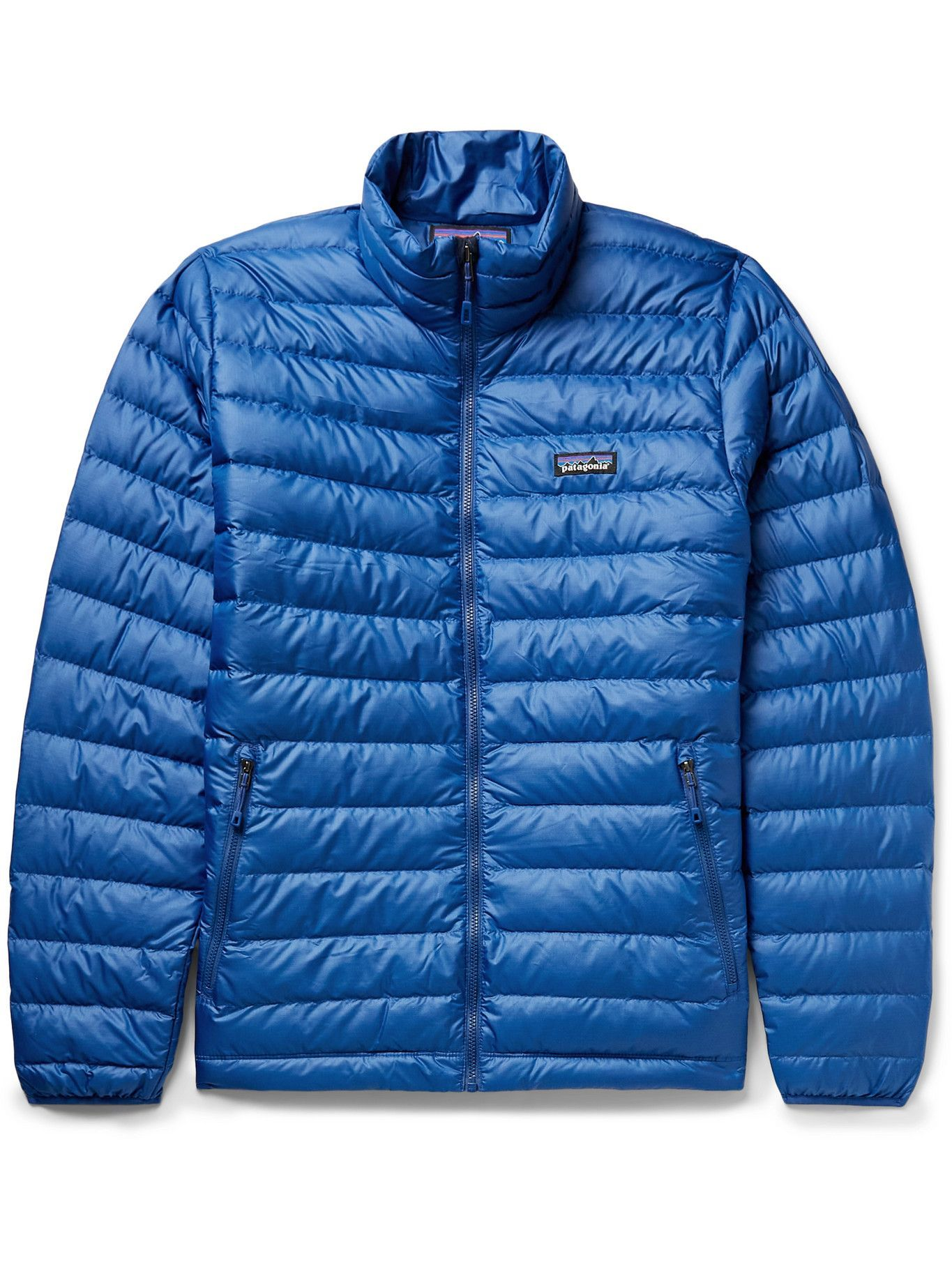 Photo: PATAGONIA - Quilted DWR-Coated Recycled Ripstop Down Jacket - Blue