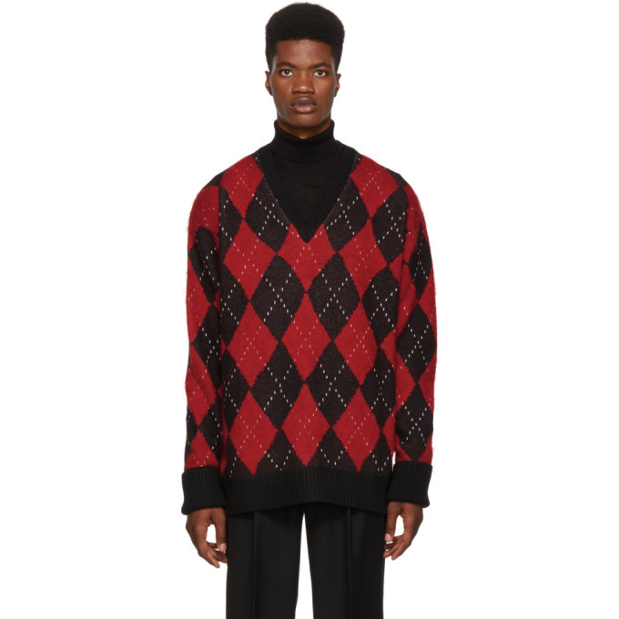 Photo: Alexander McQueen Multicolor Oversized Argyle Sweater
