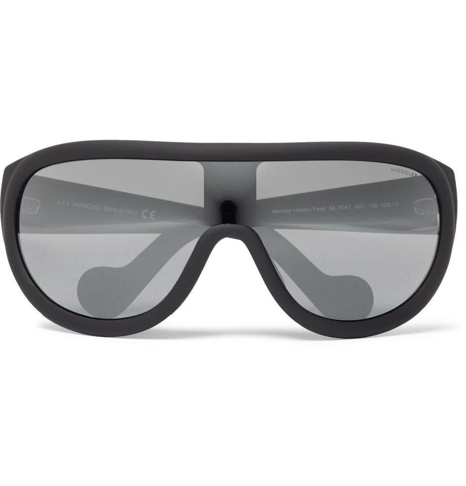 Photo: Moncler - Acetate Ski Sunglasses - Black
