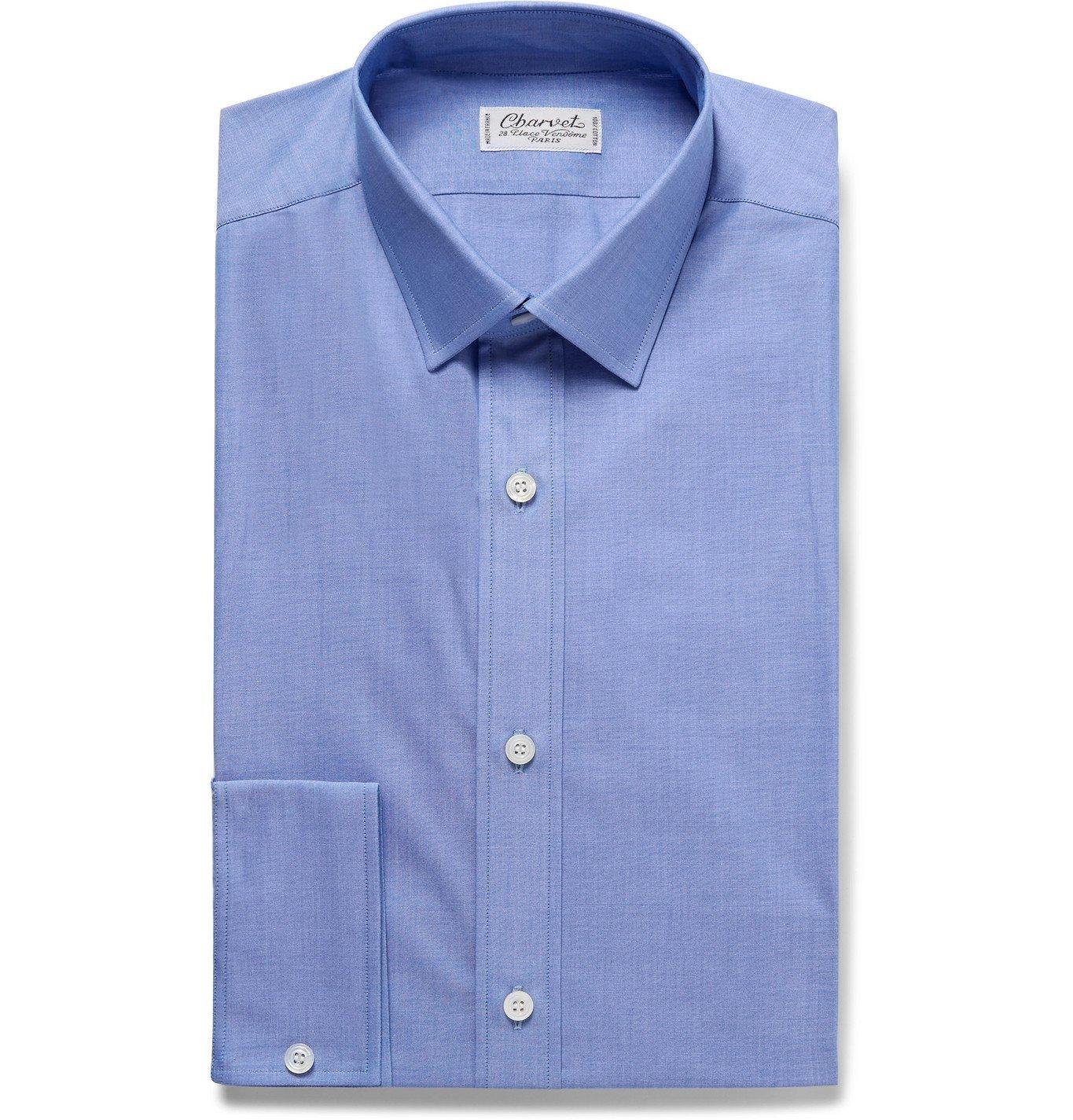 Photo: Charvet - Blue Cotton Shirt - Blue
