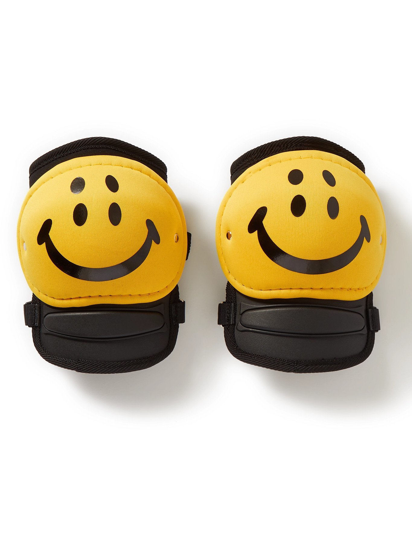Photo: KAPITAL - Rain Smiley Printed Knee Pads - Yellow