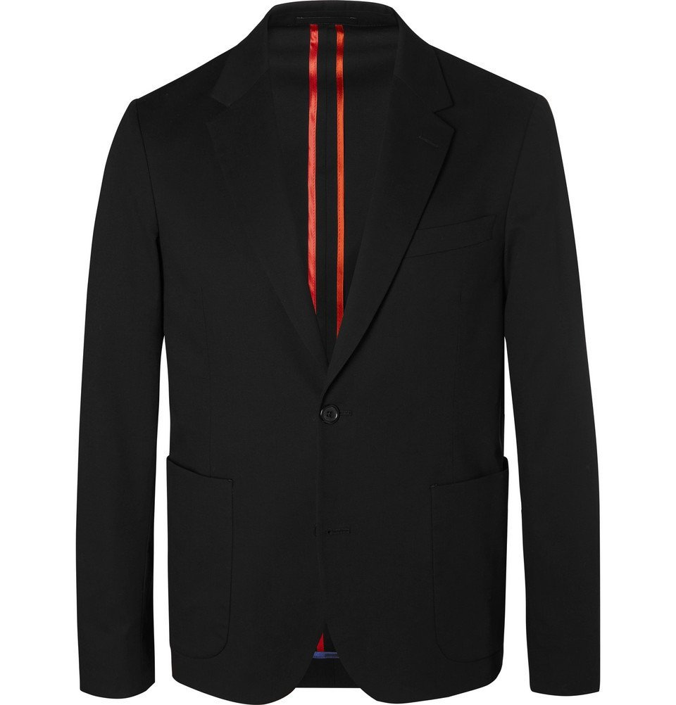 Photo: PS by Paul Smith - Black Slim-Fit Unstructured Stretch-Cotton Blazer - Men - Black