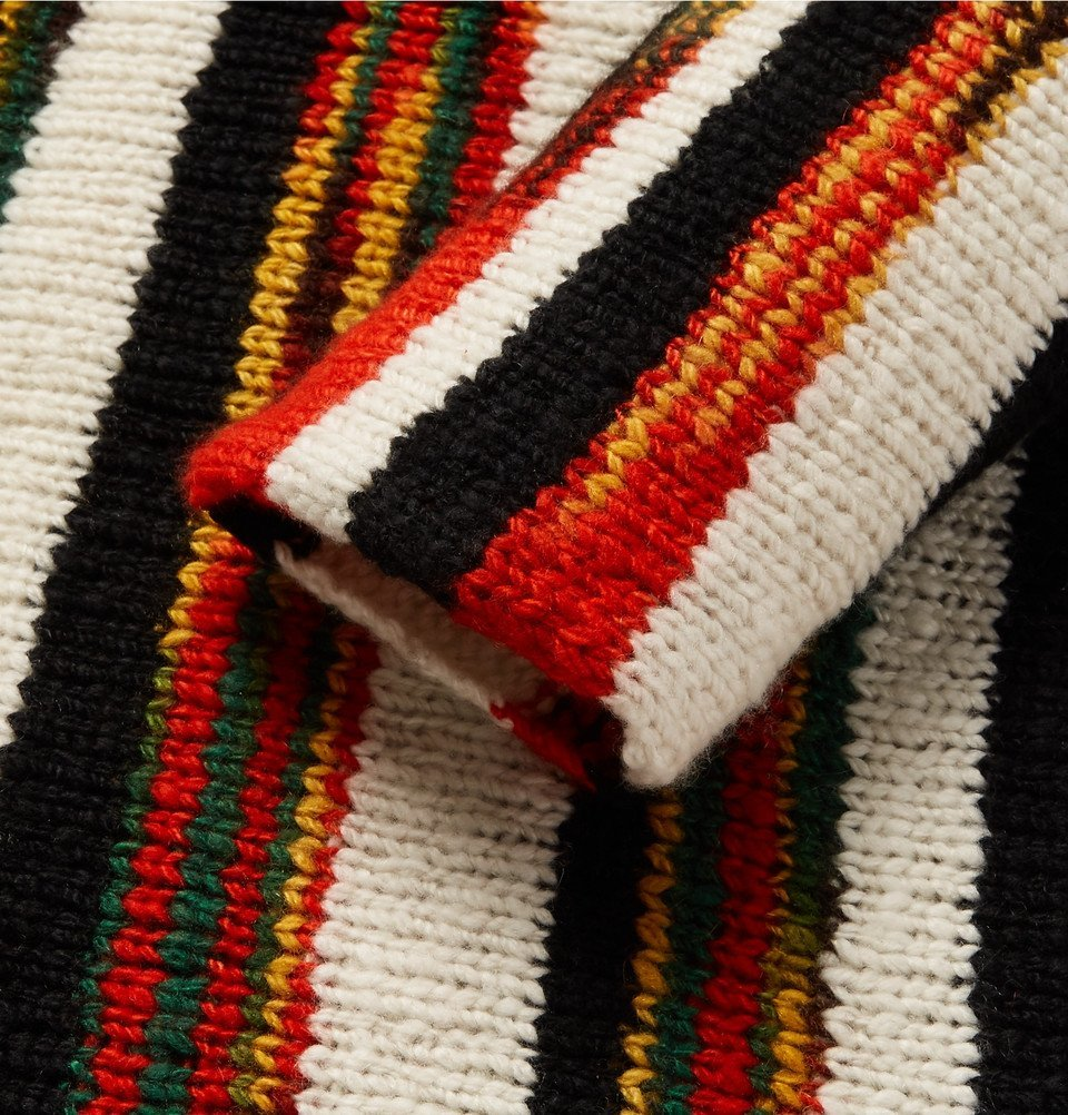 The Elder Statesman - Rola Rasta Striped Cashmere Sweater - Black