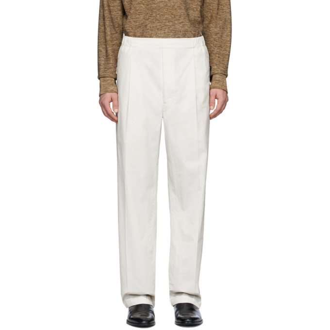 Photo: Lemaire Off-White Poplin Drawstring Trousers