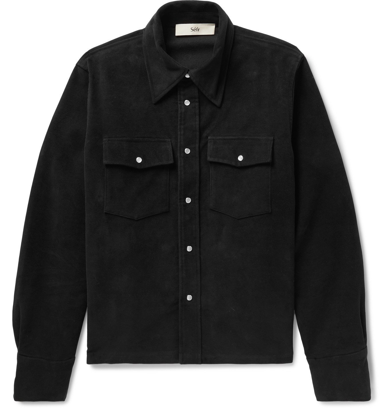 Photo: Séfr - Matsy Cotton-Moleskin Shirt Jacket - Black