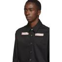 Raf Simons Black Denim Slim Fit Shirt