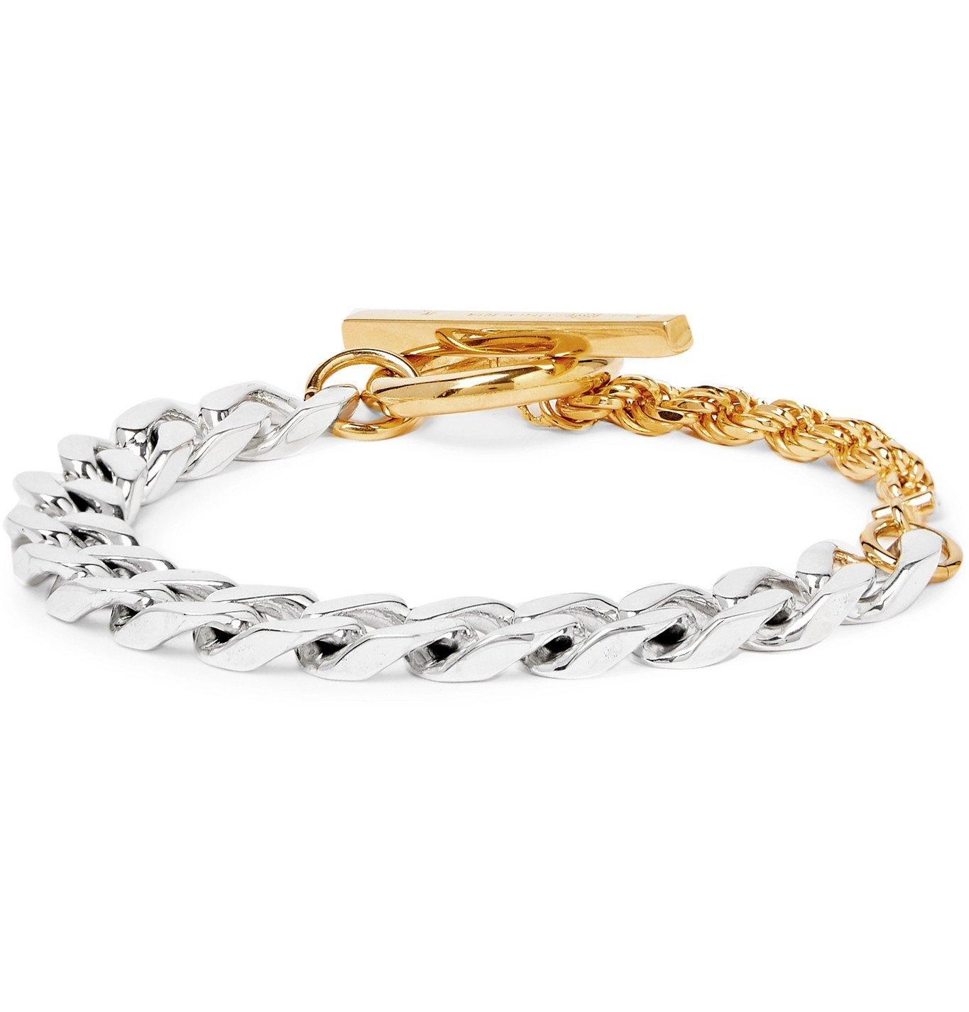 Photo: Bottega Veneta - Sterling Silver and Gold-Tone Chain Bracelet - Gold