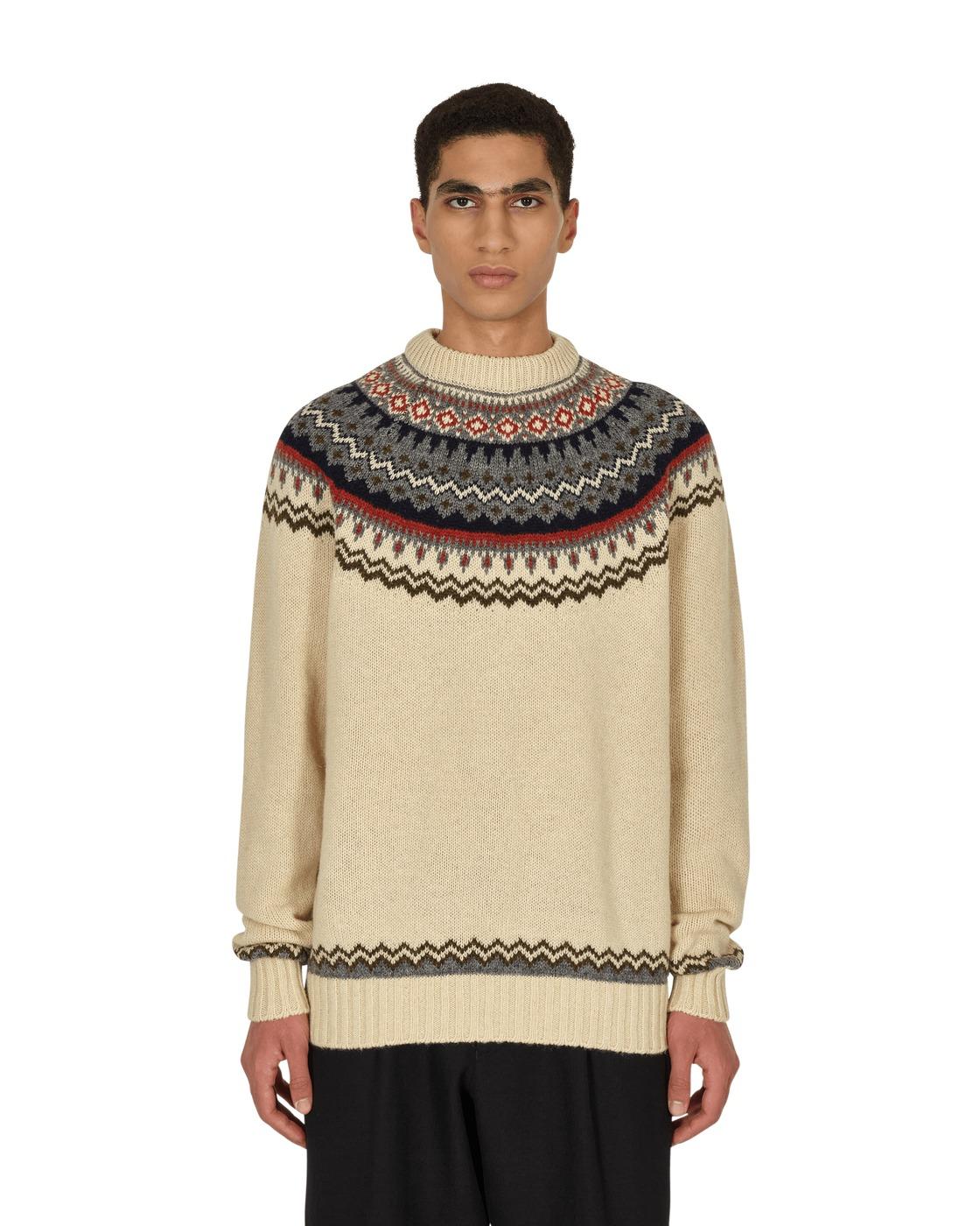 Photo: Junya Watanabe Man Loop Shetland Sweater Natural