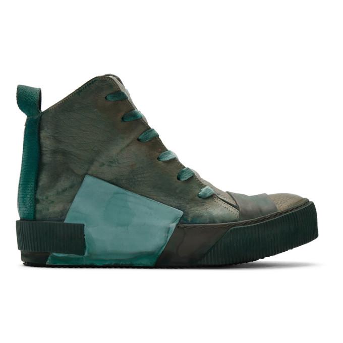 Photo: Boris Bidjan Saberi Green Bamba1 Sneakers