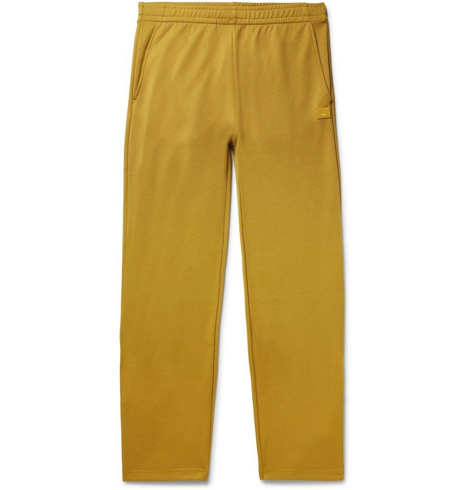Photo: Acne Studios - Emmett Tech-Jersey Logo-Appliquéd Track Pants - Saffron