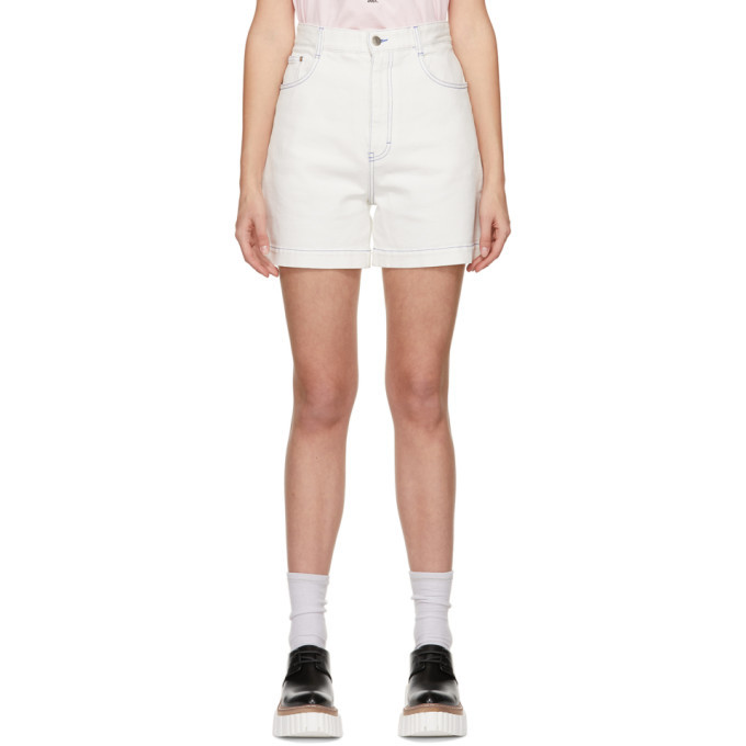 Photo: Stella McCartney White Shared OBS 23 Contrast Stitch Shorts
