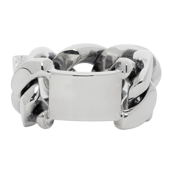 Photo: Bottega Veneta Silver Chain Ring