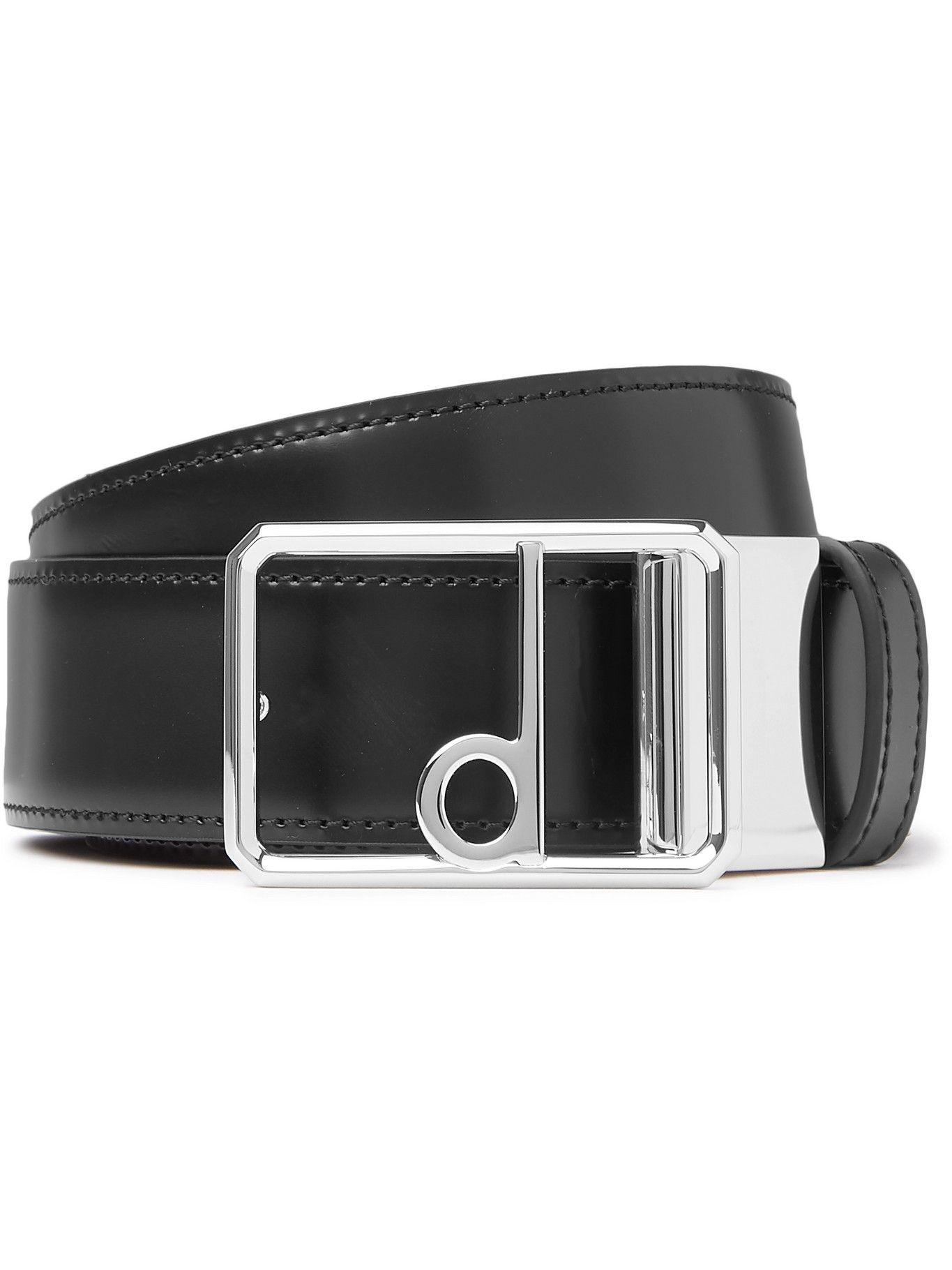 DUNHILL - 3.5cm Reversible Full-Grain Leather Belt - Brown