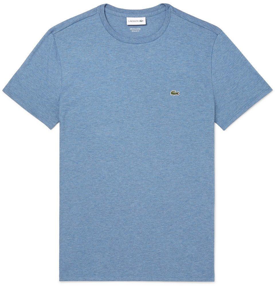 Photo: Lacoste - Mélange Cotton-Jersey T-Shirt - Blue