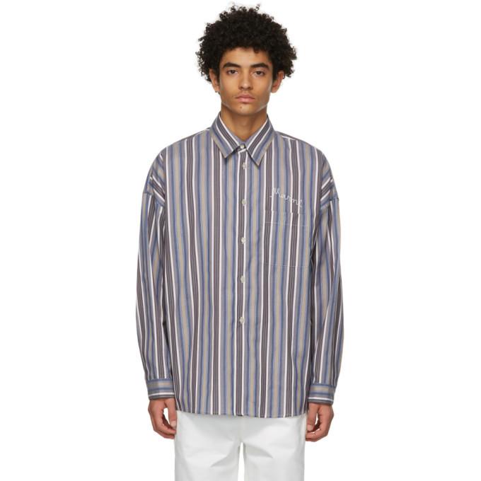 Photo: Marni Blue and Brown Striped Shirt