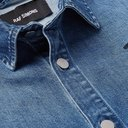 Raf Simons - Oversized Logo-Embroidered Denim Shirt - Blue