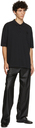 Raf Simons Black Fred Perry Edition Oversized Printed Polo