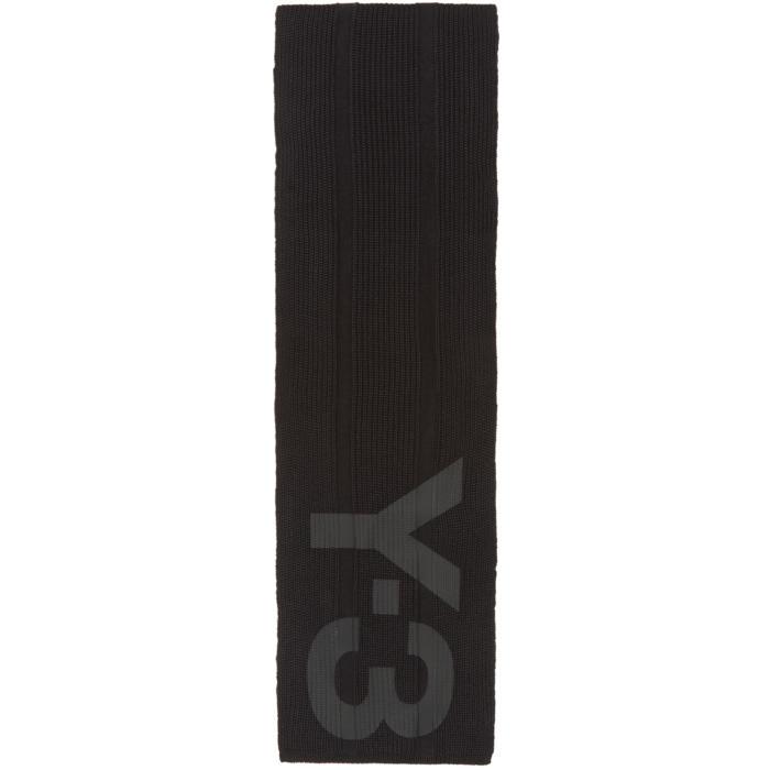 Photo: Y-3 Black Logo Scarf