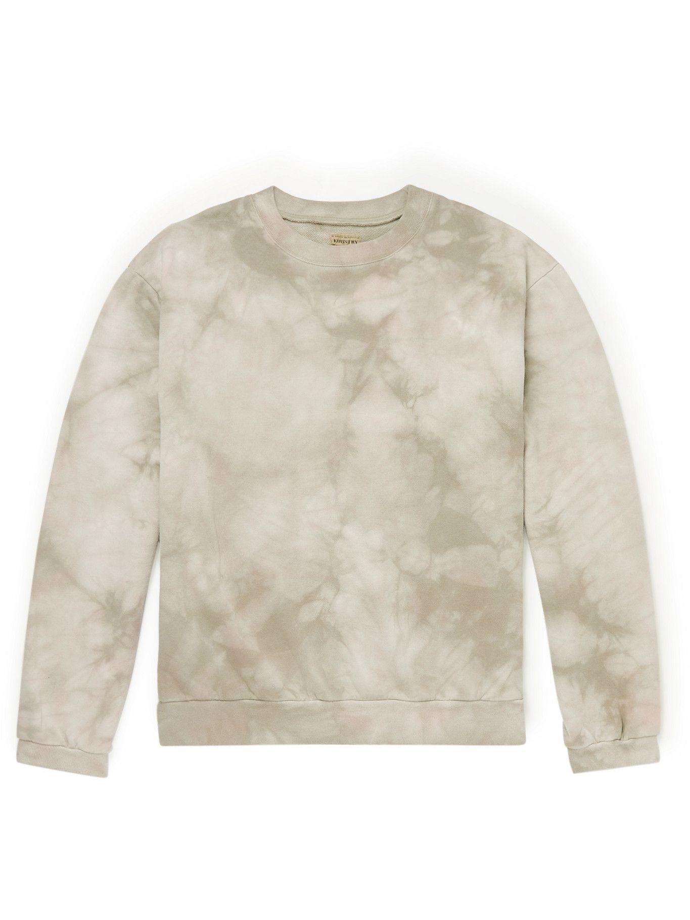 KAPITAL - Tie-Dyed Cotton-Jersey Sweatshirt - Neutrals