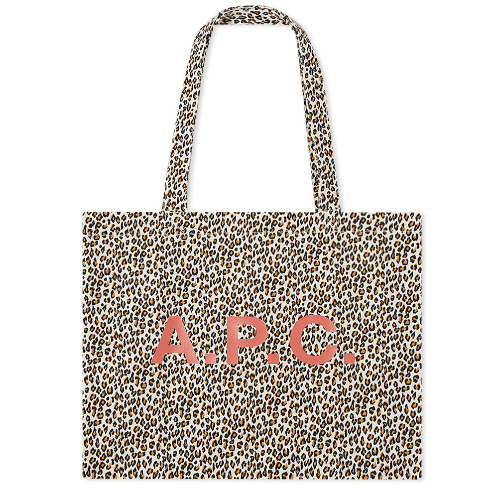 Photo: A.P.C Diane Leopard Print Shopping Bag