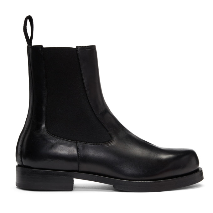 Photo: Alyx Black Leather Chelsea Boots