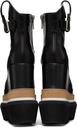 Sacai Black Short Wedge Western Boots