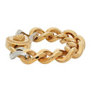 Versace Gold and Silver Medusa Chain Bracelet