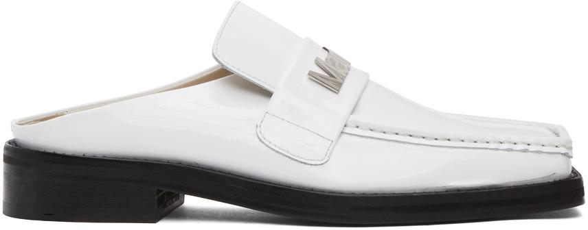 Photo: Martine Rose SSENSE Exclusive White Patent Martine Loafers